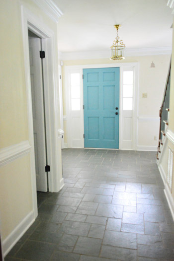 Young House Love Foyer Door : Painting the back of your front door a bold color young