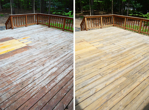 How To Strip Amp Clean A Deck For Stain Young House Love