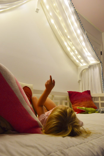 Adding Fairy Lights To A Canopy Bed Amp Photoshop Fun Young House Love