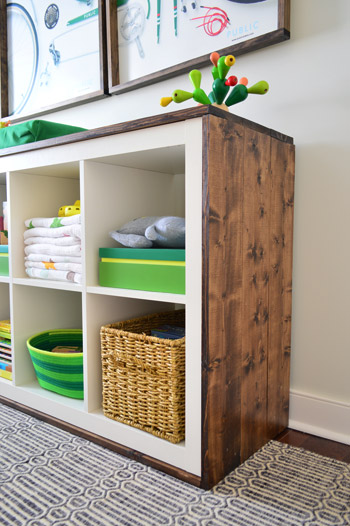 an easy ikea hack bookcase to wood wrapped changing table house