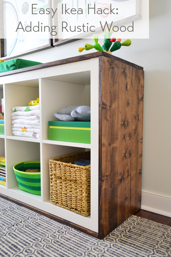 an easy ikea hack bookcase to wood wrapped changing table young house love. Black Bedroom Furniture Sets. Home Design Ideas