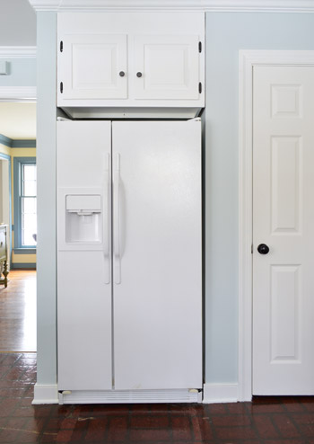 how to paint a refrigerator young house love