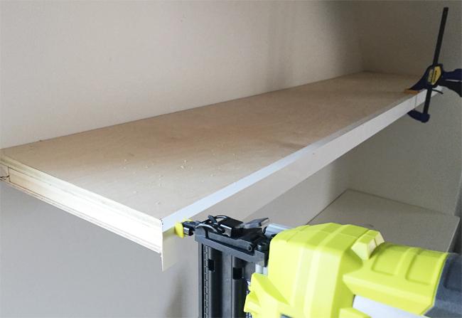 adding built ins white floating shelves around a window. Black Bedroom Furniture Sets. Home Design Ideas