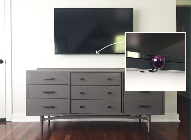 how to hide tv wires for a cord free wall young house love. Black Bedroom Furniture Sets. Home Design Ideas