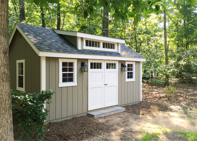 My backyard storage shed dreams have come true for Garden shed small space