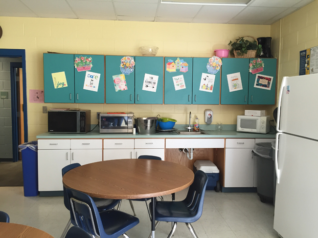 A teachers lounge makeover just in time for back to for Lounge makeover ideas