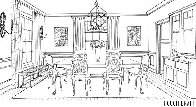 Inspiring Dining Room Drawing Ideas Best Inspiration Home Design