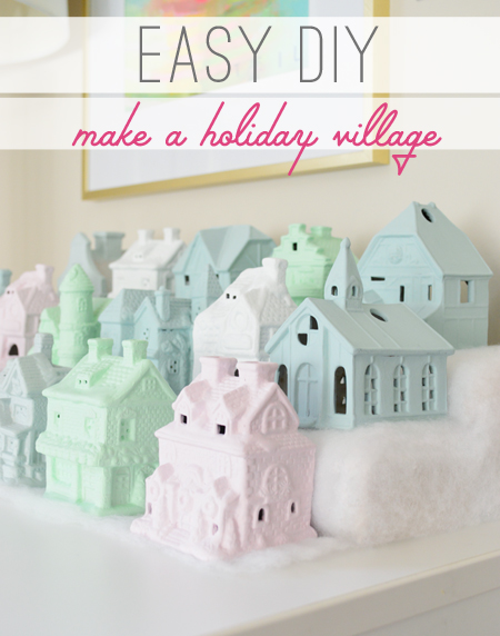 How To Make A Little Christmas Village   Young House Love