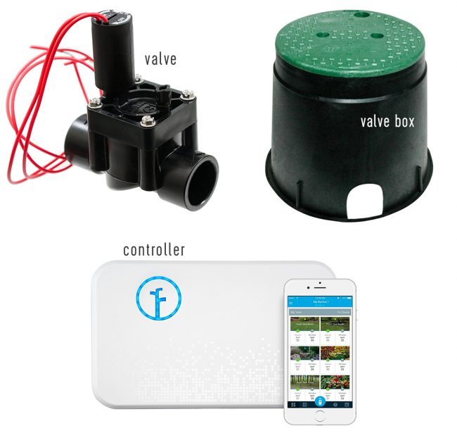 irrigation system materials valve box racchio controller