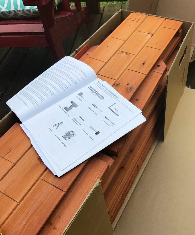 backyard discoveries cedar wooden playhouse instructions