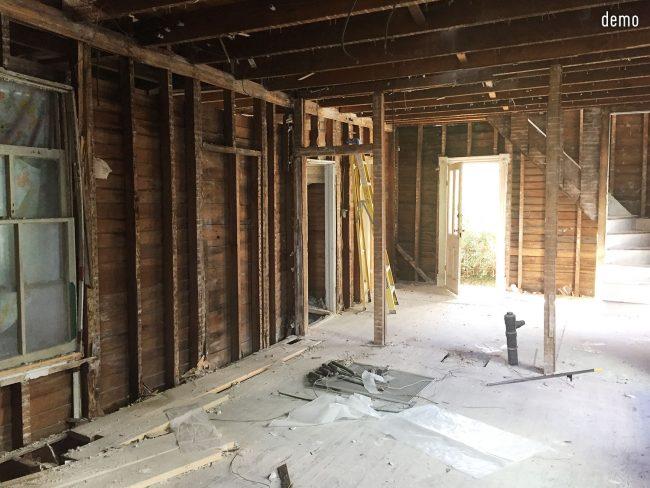 beach house demolition kitchen