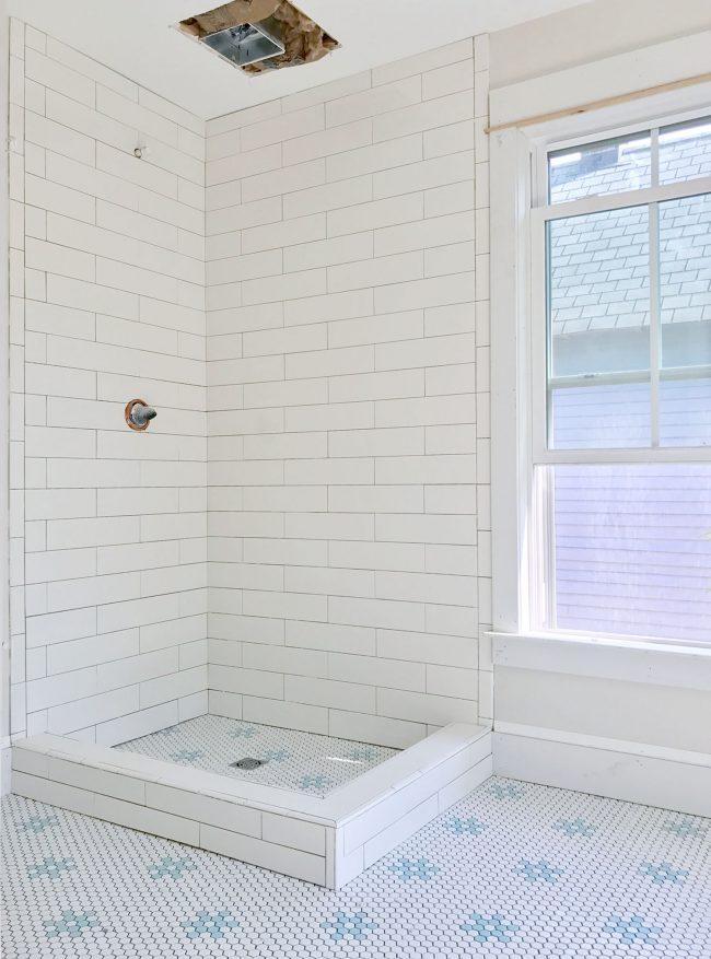 Holy thinset batman the beach house bathrooms are tiled - Decorating a beach house on a shoestring ...