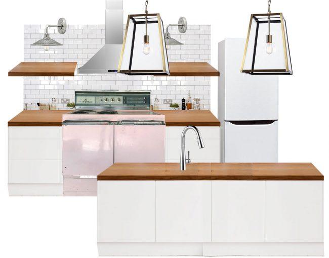 beach house kitchen planning tool mood board lantern lights