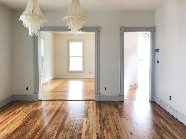 The Pine Floors At The Beach House Are Refinished And It