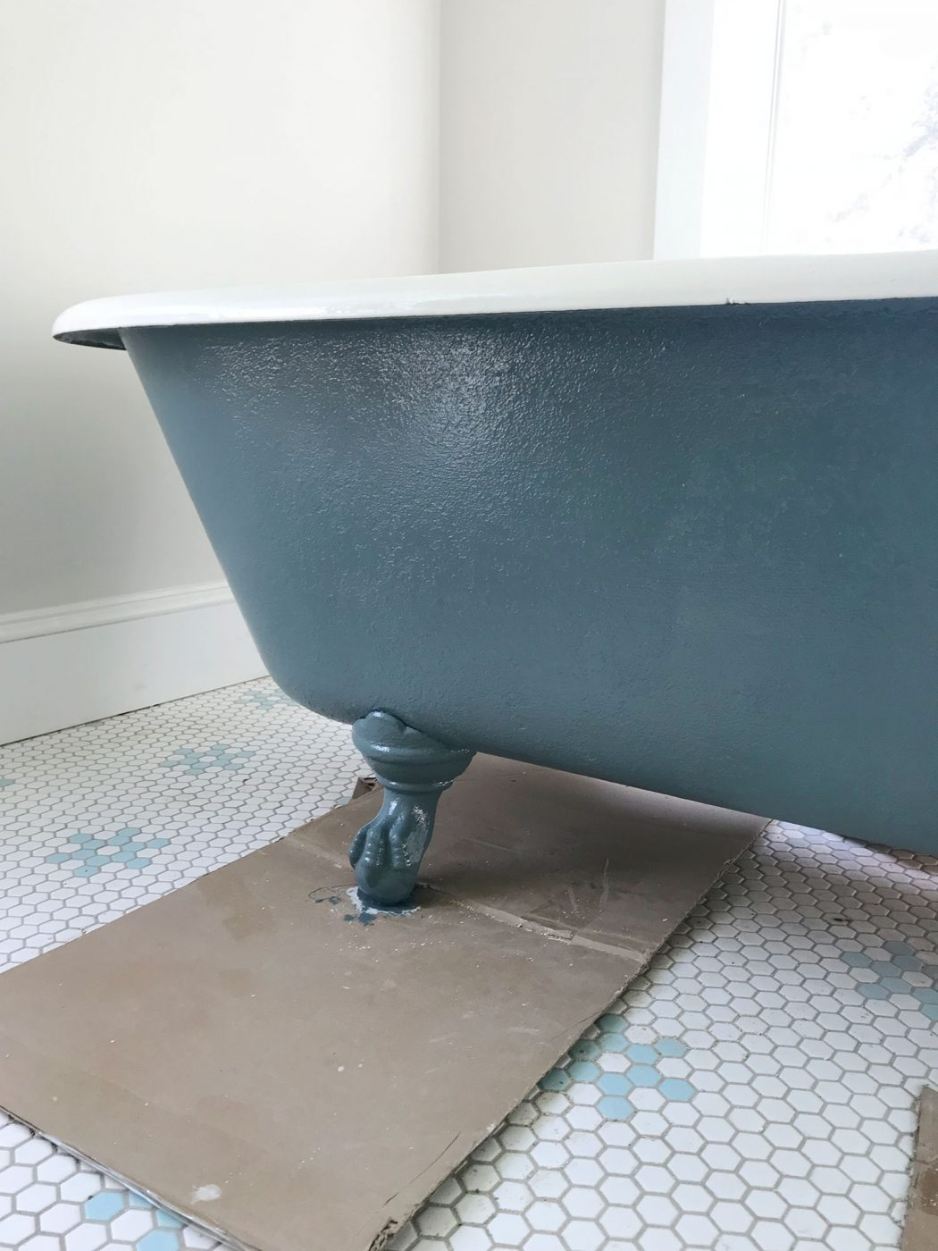 how to refinish a nasty old clawfoot tub. Black Bedroom Furniture Sets. Home Design Ideas