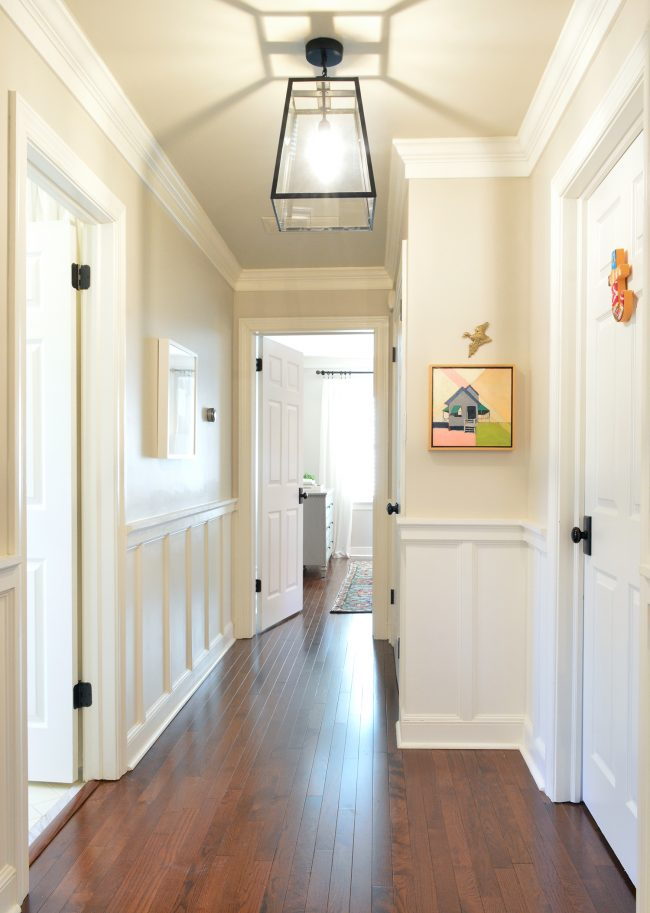 Upstairs-Hallway-Towards-Bedroom-2018-650x913 Painting Wainscoting Youtube on painting mirrors, painting paneling, painting lighting, painting stone, painting windows, painting bookshelves, painting plywood, painting archways, painting woodwork, painting baseboards, painting kitchens, painting staircases, painting wood, painting wallpaper, painting tables, painting bar, painting siding, painting crown molding, painting painting, painting marble,