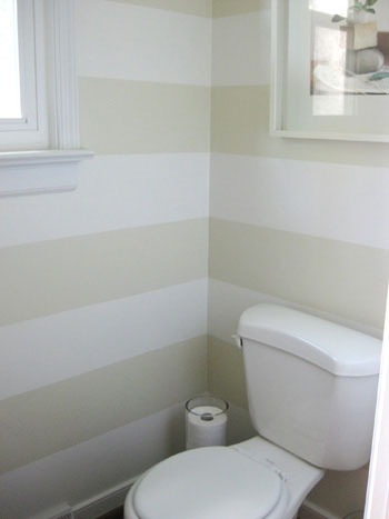 Here S How We Painted Subtle Tone On Tone Cream Stripes In