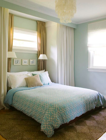 Hanging Some White Faux Wood Blinds In The Bedroom | Young House Love