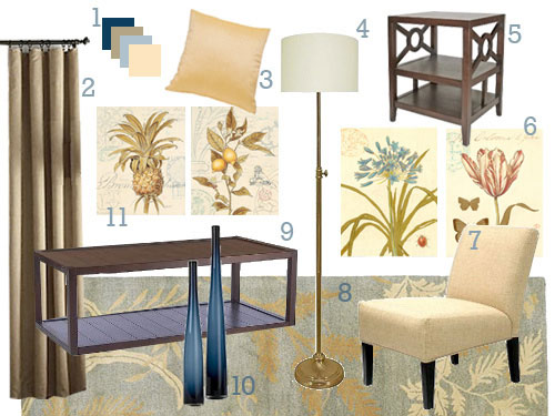 creamy-yellow-and-slate-blue-living-dining-room-makeover-decorating-advice-mood-board